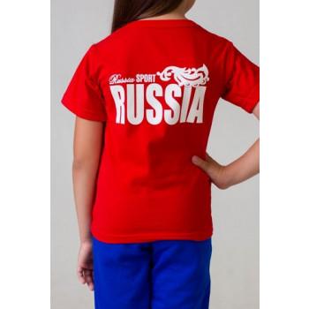 """Футболка подростковая """"Россия"""""""