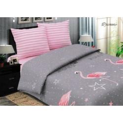 """Постельное белье из поплина """"Фламинго"""""""