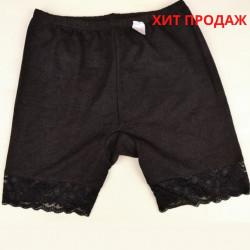 Панталоны женские с кружевом черные
